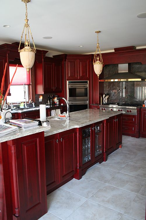 Custom Cherry Kitchen Cabinets and Countertops, Buffalo NY Quaker ...