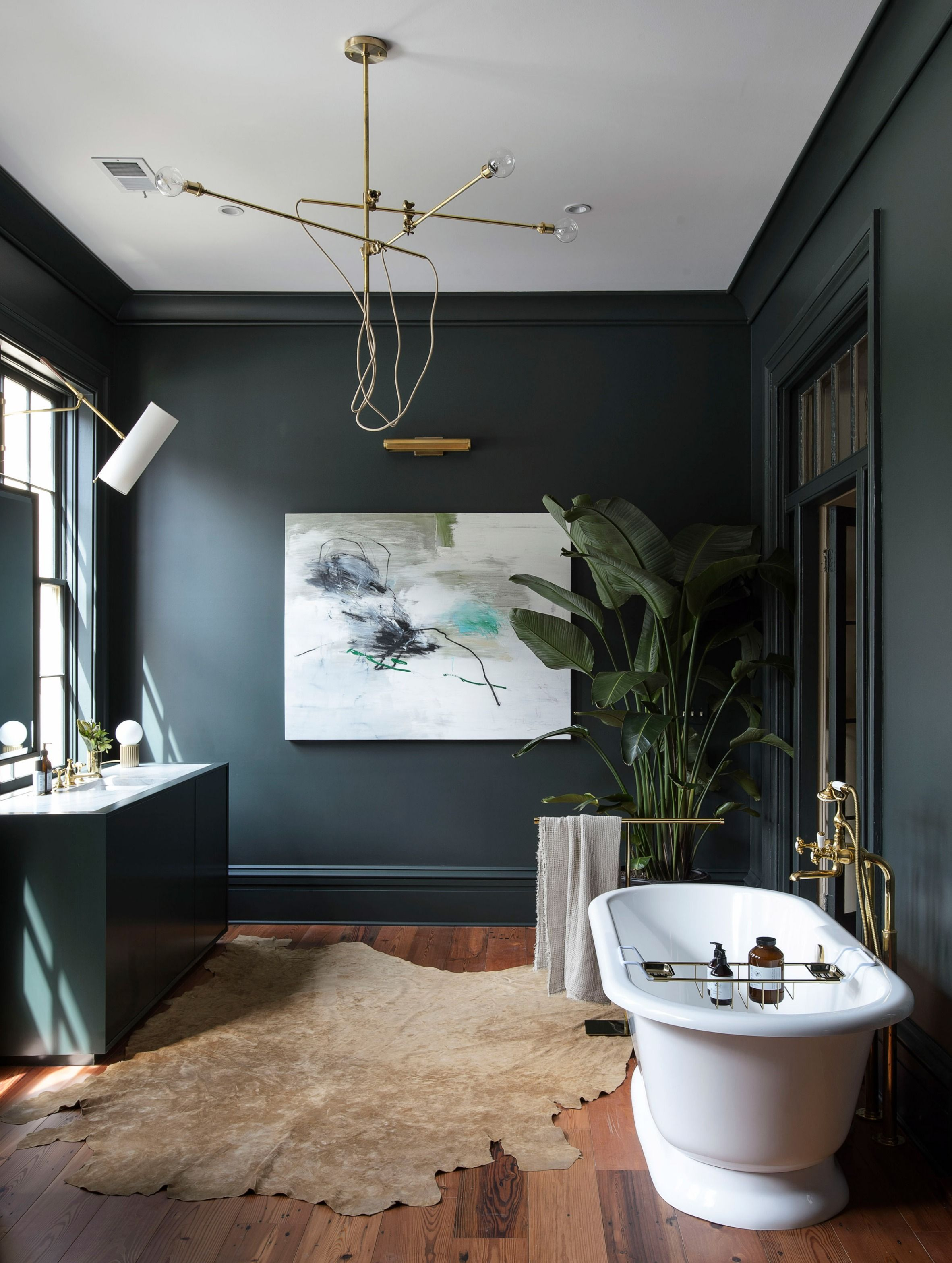 Industrial Chandelier In Black Or Brass Fuses The Concept Of The