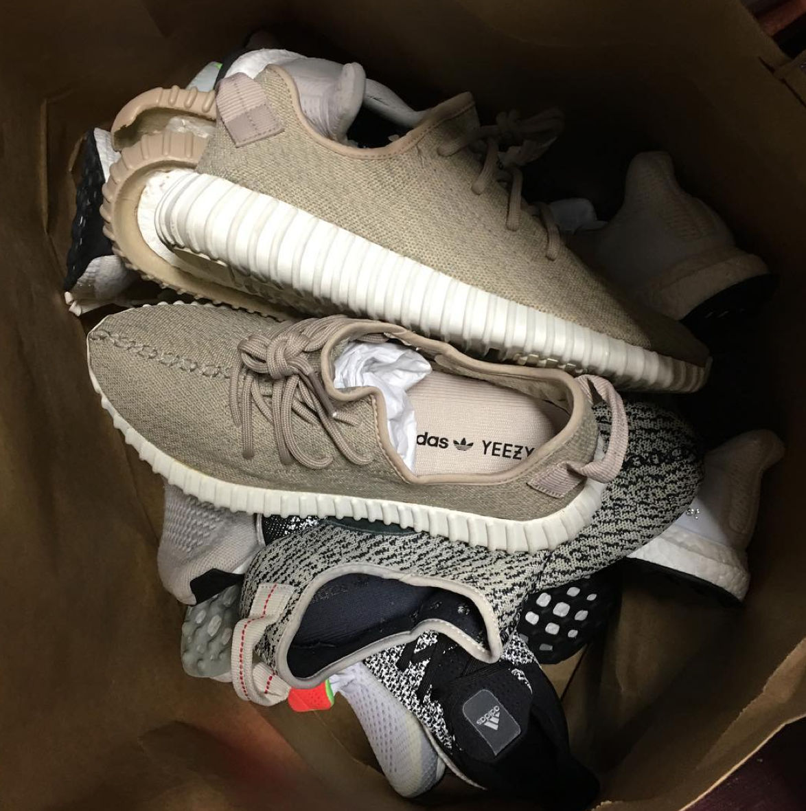16ae334ab90ed Custom Yeezy Boost 350 sole swap with an oxford tan upper and turtle dove  sole
