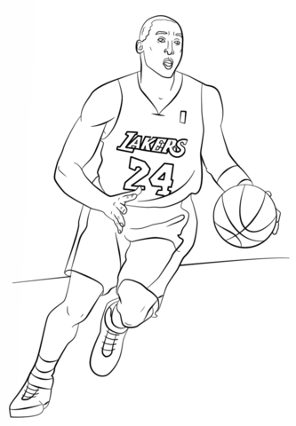 Lebron James Coloring Pages Lakers : lebron, james, coloring, pages, lakers, Bryant, Coloring, Sports, Pages,, Lebron, James,, Pages