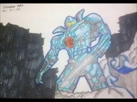 Dibujando Al Jaeger Gipsy Danger Titanes Del Pacifico Art Humanoid Sketch