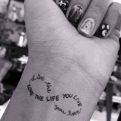 fina tatueringar texter