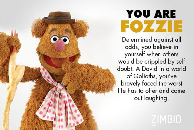 Which Muppet Are You Fozzie Fozzie Bear Muppets