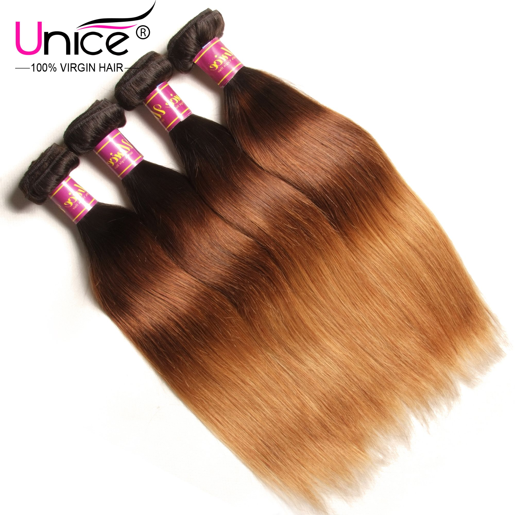 Unice Brazilian Ombre Straight Hair Extension S 16 26 Inch 4