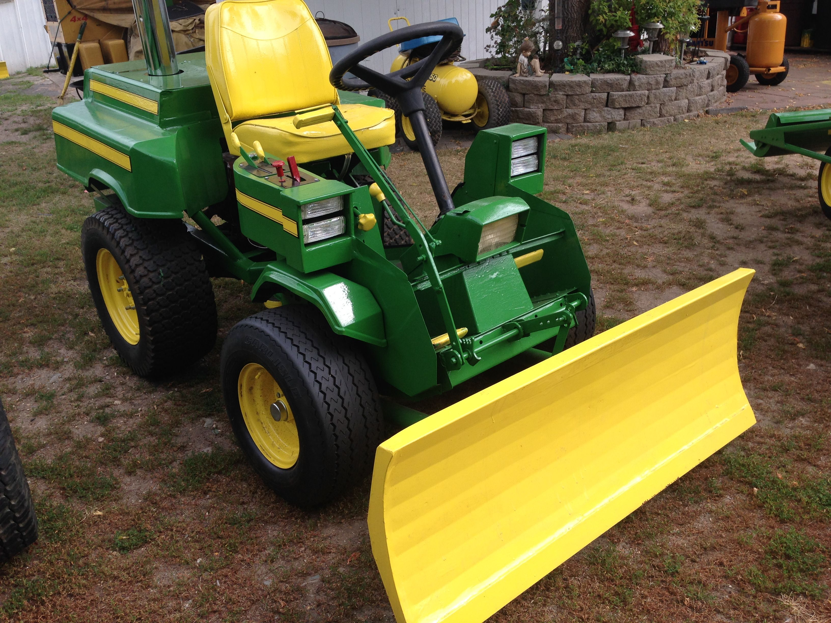 Show home build gas powered mini tractors - This was a old junk non working bolens and i brought it back to life small tractorslawn