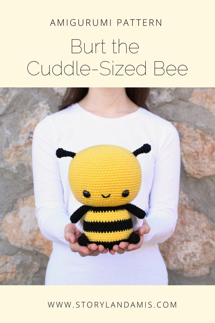 PATTERN Burt the Cuddle-Sized Bumble Bee Amigurumi | Pinterest | Häkeln