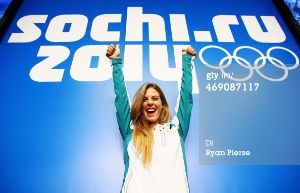 SOCHI, RUSSIA - FEBRUARY 13: Torah Bright of Australia poses during a press conference at Gorki Press Centre Centre on day six of the Sochi 2014 Winter Olympics on February 13, 2014 in Sochi, Russia. (Photo by Ryan Pierse/Getty Images)