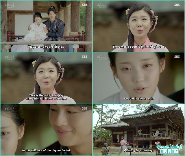 Hae So and Wang Jung listen to the song which king made for