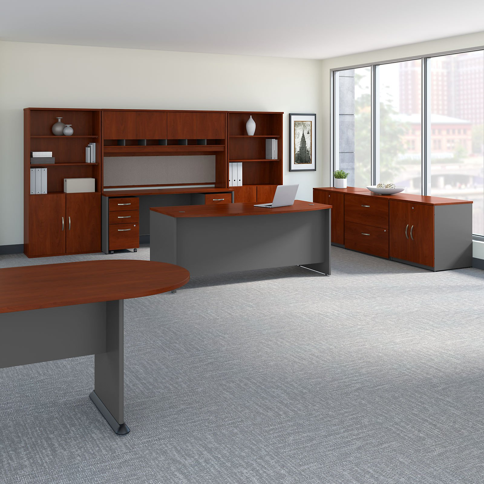 Bush Business Furniture Series C Executive Office Suite With