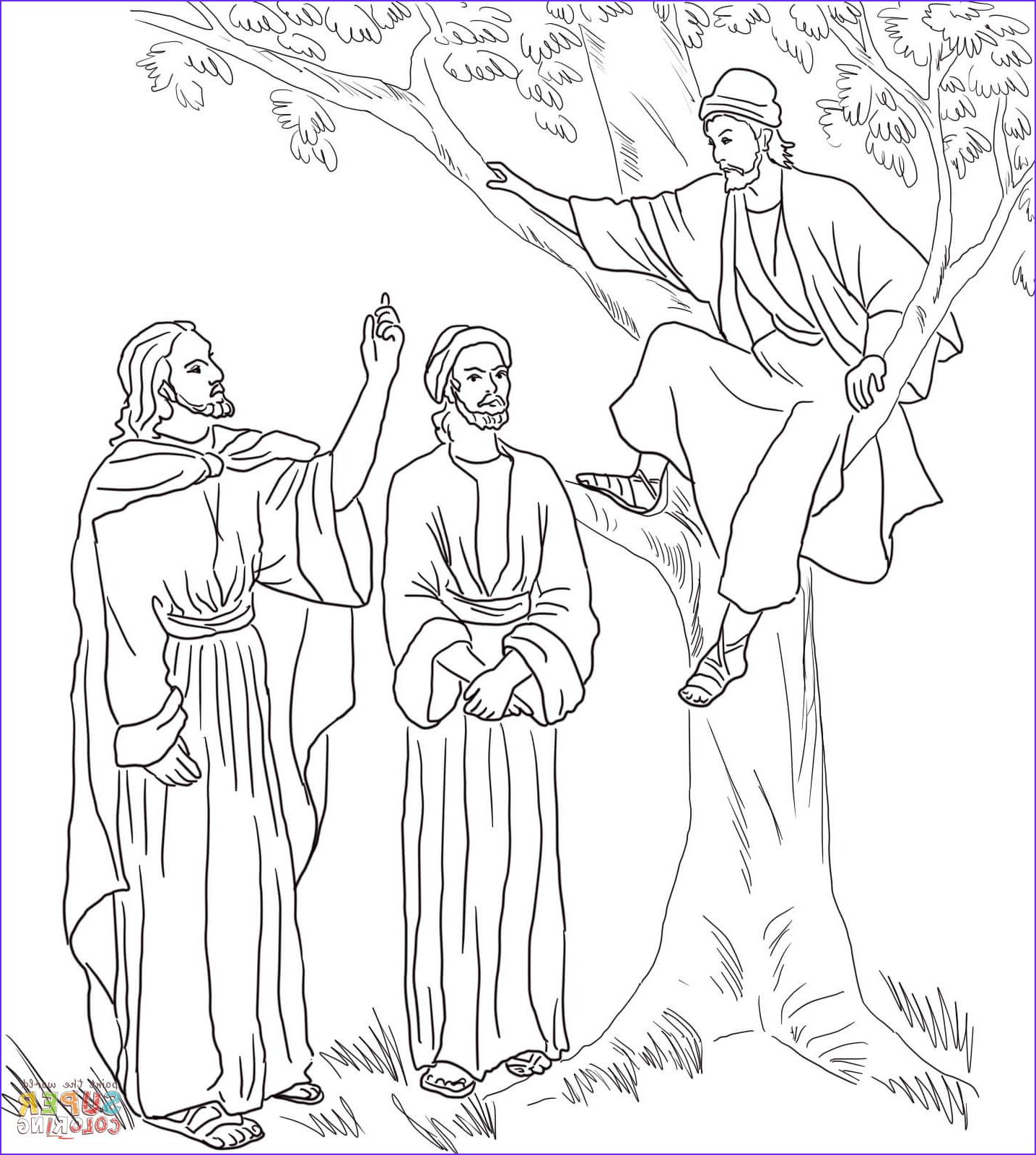 Jesus And Zacchaeus Coloring Page Coloring Home Coloring Pages Coloring Pages For Teenagers Coloring Pages For Kids