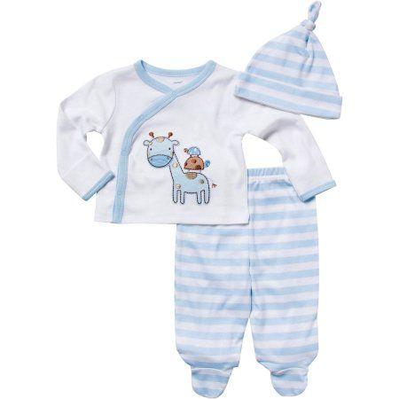 Gerber Baby 3-Piece Baby Boys Elephant Take-Me-Home Set