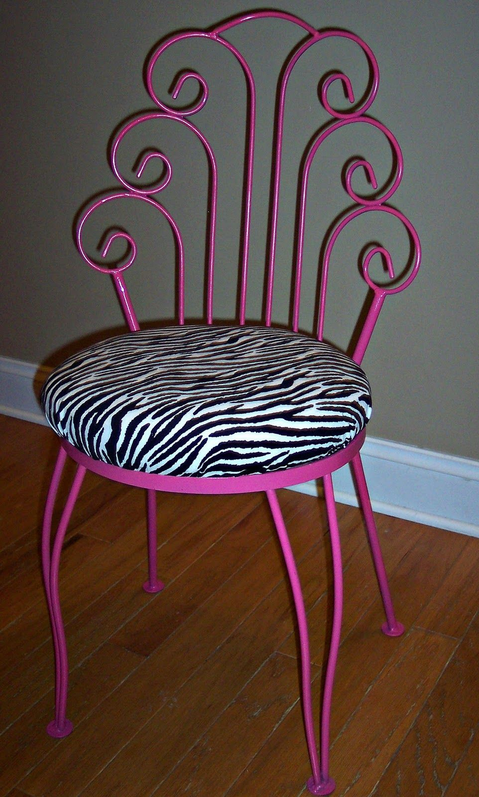 Hot Pink Desk Chair Uniquely Chic A Little And Zebra Print