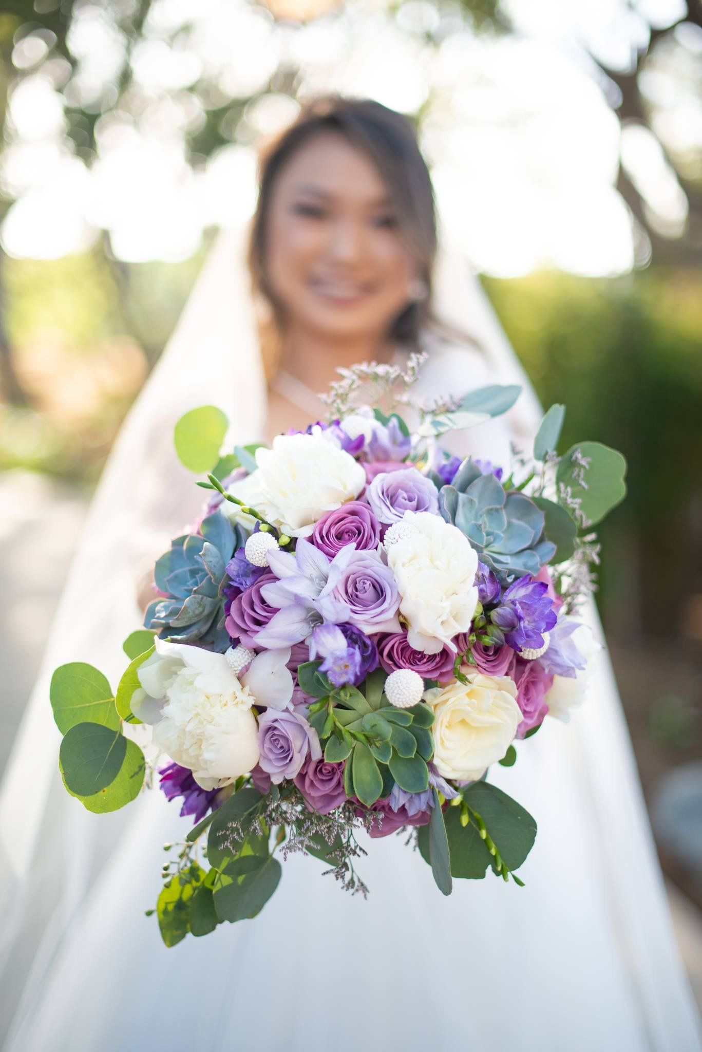 Love This Purple Bouquet We Created Wedding Flowers Purple