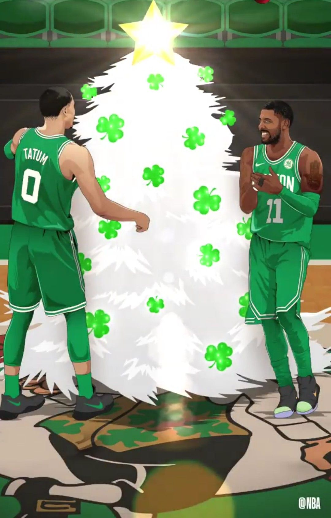 Kyrie Irving and Jayson Tatum Christmas edit Nba Sports f9d0c83ed