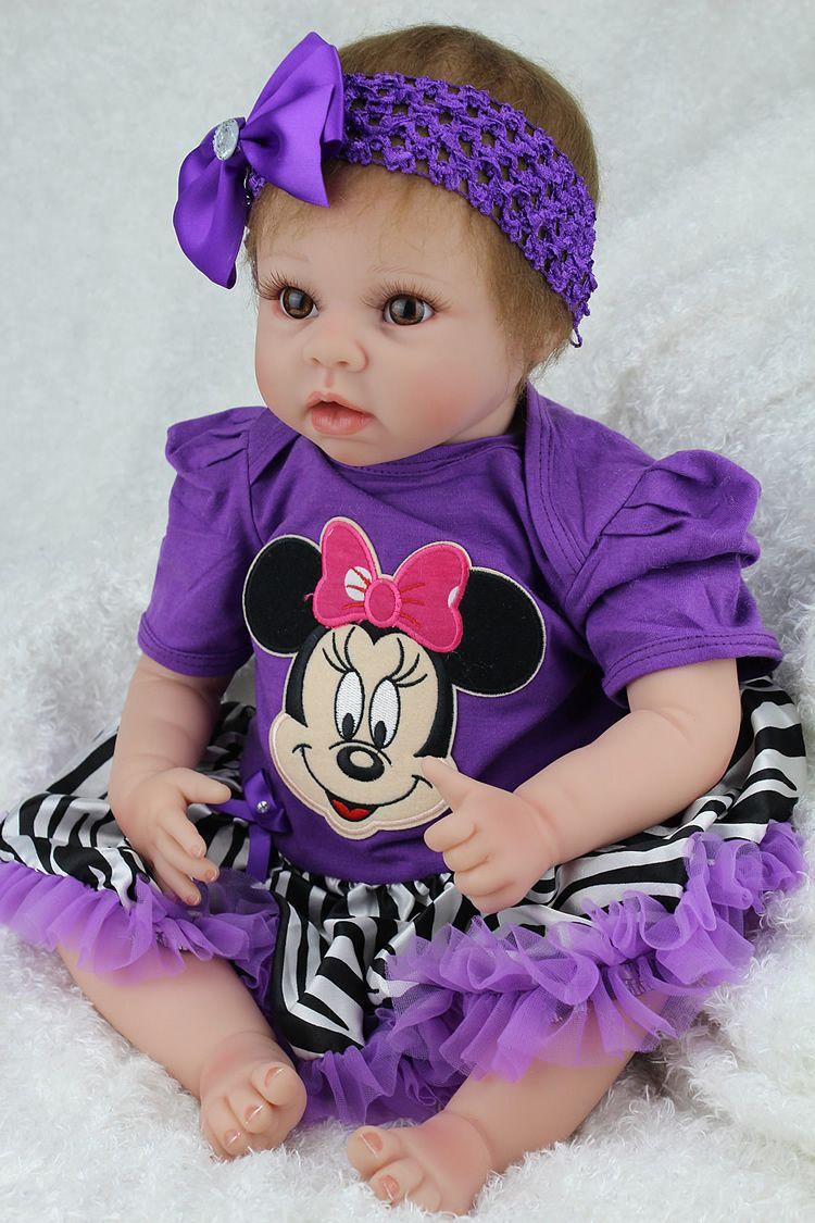 cd168783b29a6 Pas cher 22 polegada belle bébé fille reborn poupées   silicone bébé reborn  bonecas de haute qualité enfants cadeaux d anniversaire