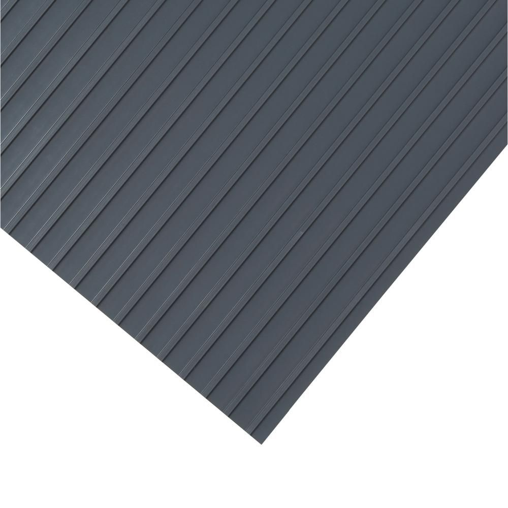 G Floor Rib 7 5 Ft X 17 Ft Slate Grey Vinyl Garage Flooring Cover And Protector Gf55rb717sg The Home Depot Garage Floor Vinyl Garage Flooring G Floor