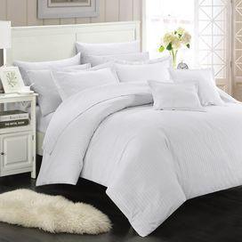 Kennedy Comforter Set in White