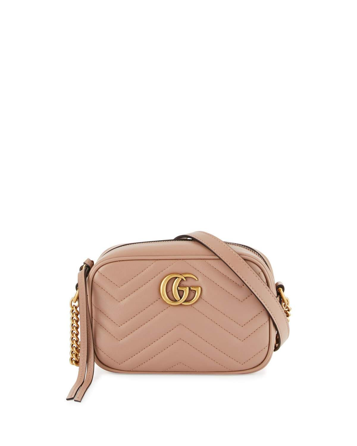 7c0952fec132 GG Marmont Mini Matelassé Camera Bag, Nude | B a g s | Gucci mini ...