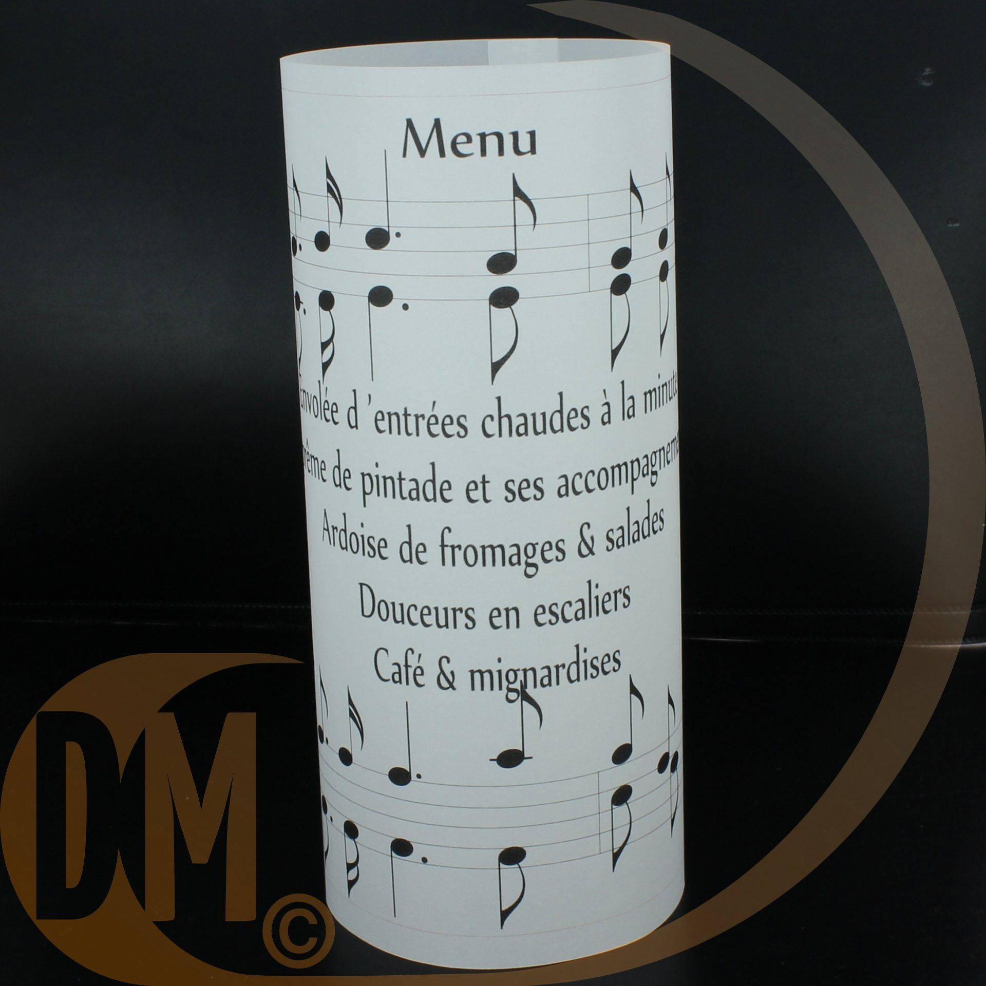 menu photophore calque musique musical wedding ideas. Black Bedroom Furniture Sets. Home Design Ideas