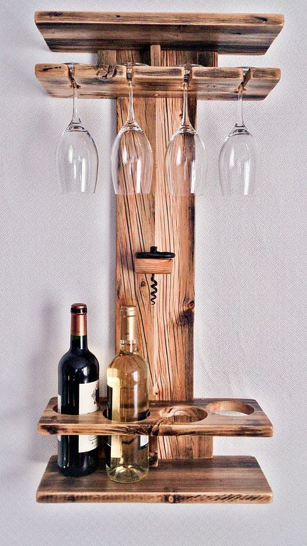 30 Simple Wall Wooden Wine Rack Design You Can Make Houten