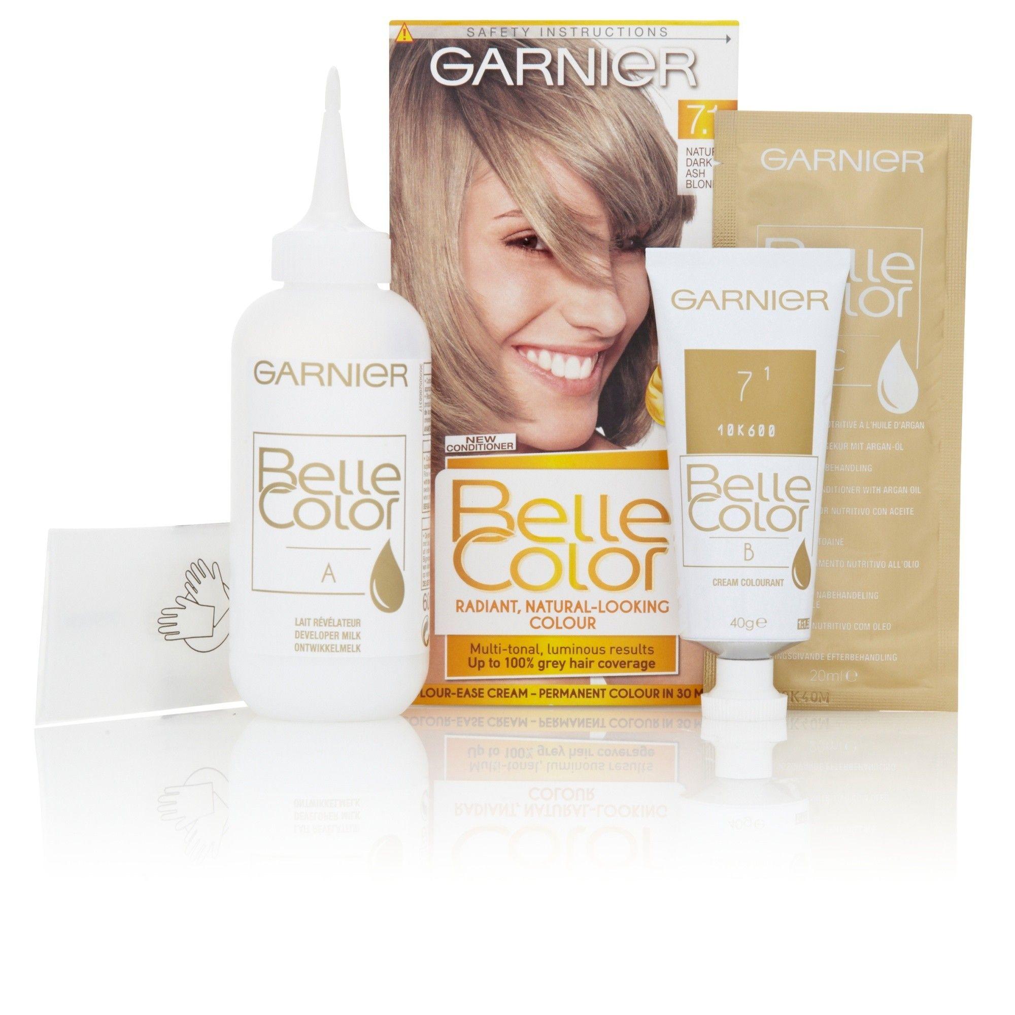 Garnier Belle Colour 7.1 Natural Dark Ash Blonde Hair Dye #naturalashblonde