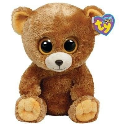 UK Version 6 Inch MWMT Ty Beanie Boos ~ HONEY the Brown Bear