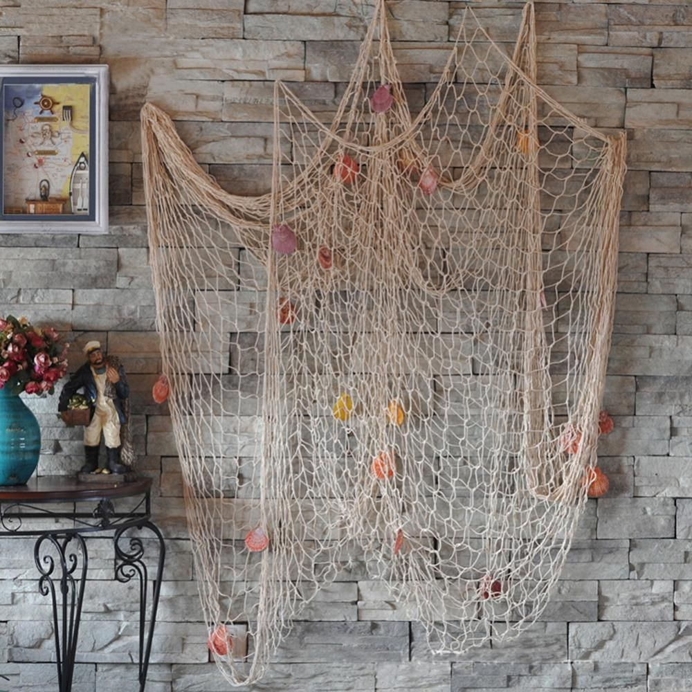 $6.95 (Buy here: http://appdeal.ru/7es5 ) Nautical Fishing Net Seaside Wall Beach Party Sea Shells Home Garden Decor for just $6.95