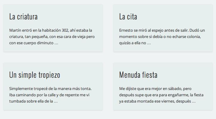 Puedes leerlos aquí: http://blogs.siglo22.net/relatos/page/4/