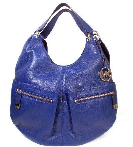 Michael Kors Layton Large Shoulder Hobo Bag Sapphire Blue Price: $299.98  You Save: $98.02 (25%)