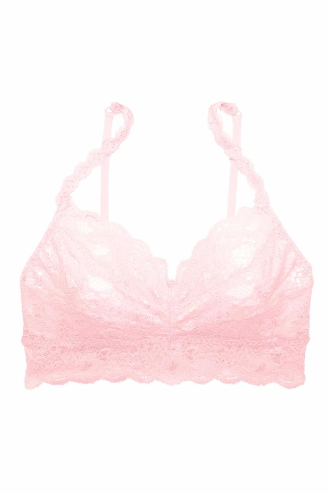 eaa4ddcf25 Unlined stretch lace bralet with sweetheart neckline