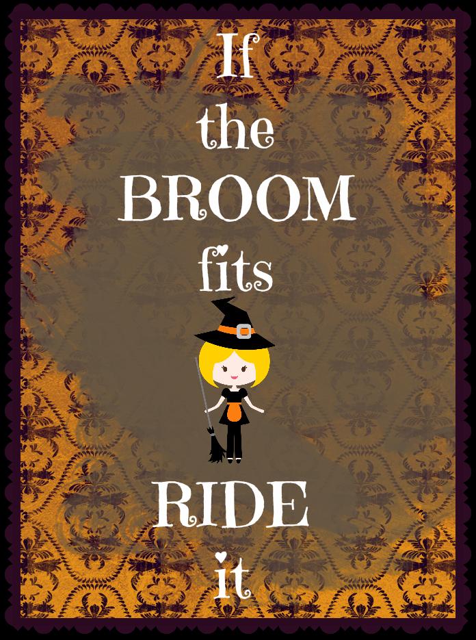 Free: Cute Halloween Printable If the Broom Fits