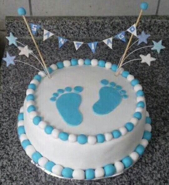 Torta Baby Shower Varon Tortas Pasteles De Baby Shower