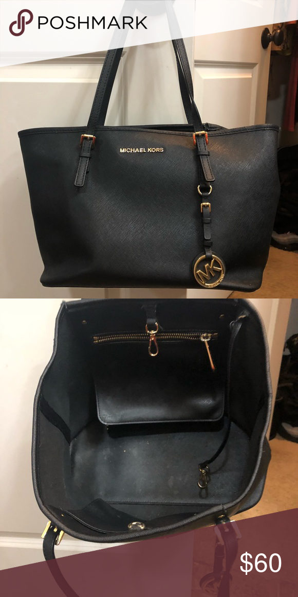b8a83ccc2e28 Authentic Black Michael Kors Purse Worn for a little while in very good  condition Michael Kors Bags Shoulder Bags