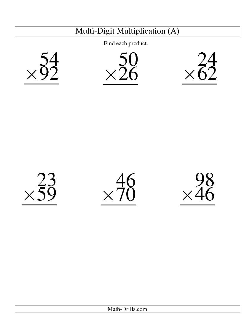 Worksheets Double Digit Multiplication Worksheet double digit multiplication worksheets worksheet examples 4th worksheets