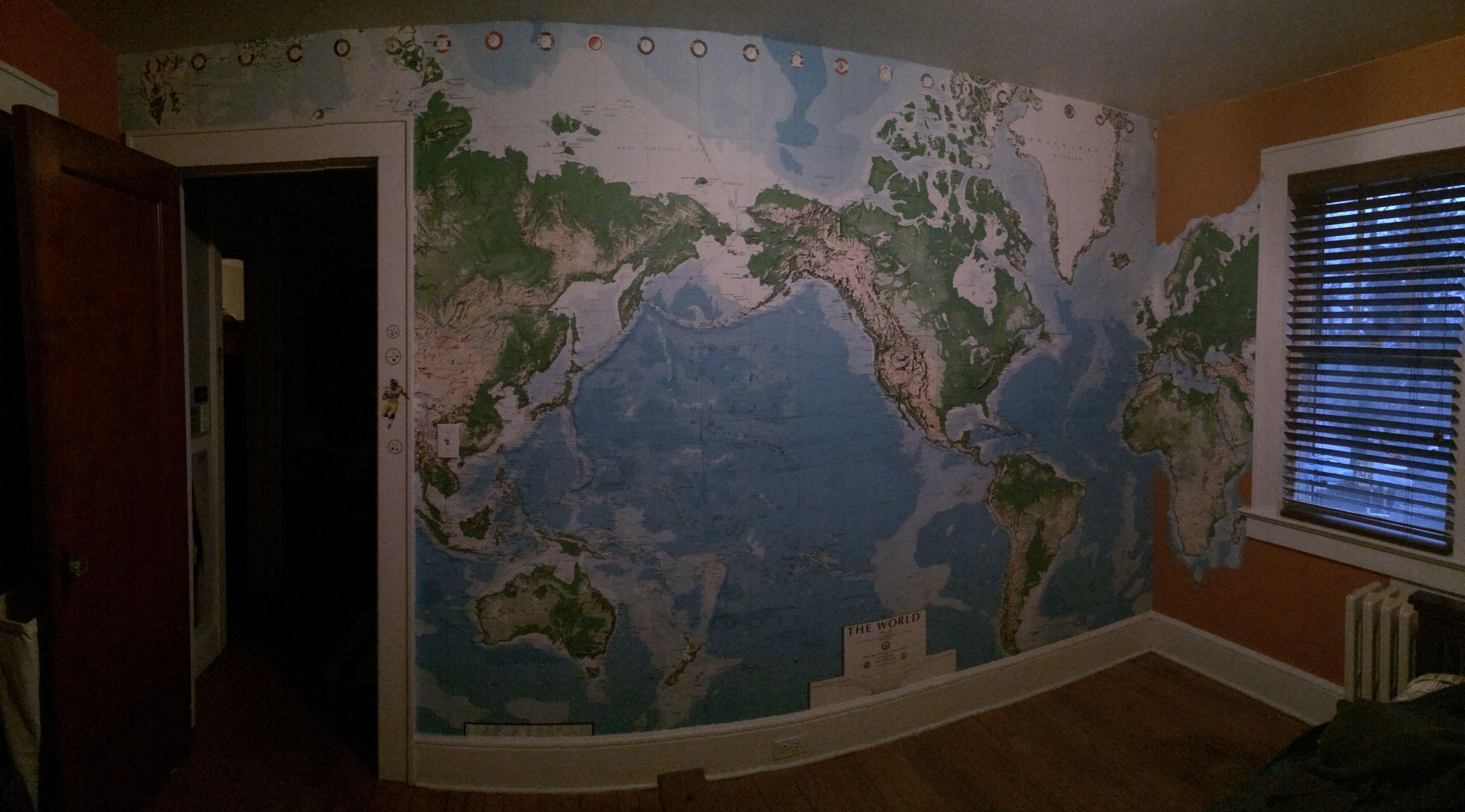 Bm pumpkin pie paint target world map wall mural bedroom target world map wall mural gumiabroncs Gallery