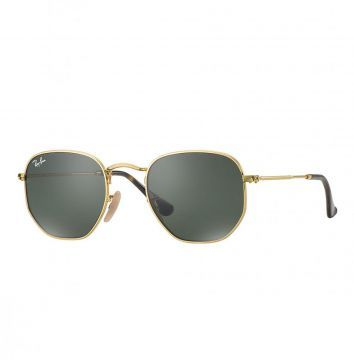 Óculos De Sol Ray-Ban Hexagonal Dourado Ray-Ban   Óculos minha cara ... cb8d49650b