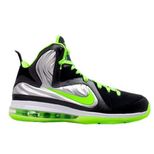 new arrival f97f2 643e0 Nike Lebron 9 ID Samples Silver Black Green BY586210