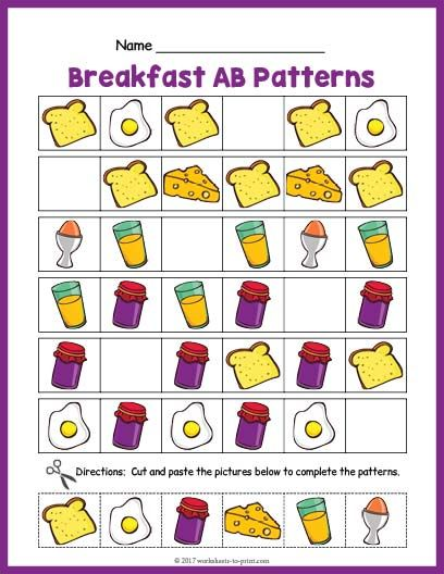 Pin On Pattern Worksheets