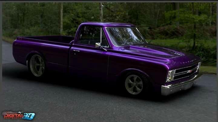 Purple 67 72 Chevy Truck Chevy Trucks 72 Chevy Truck