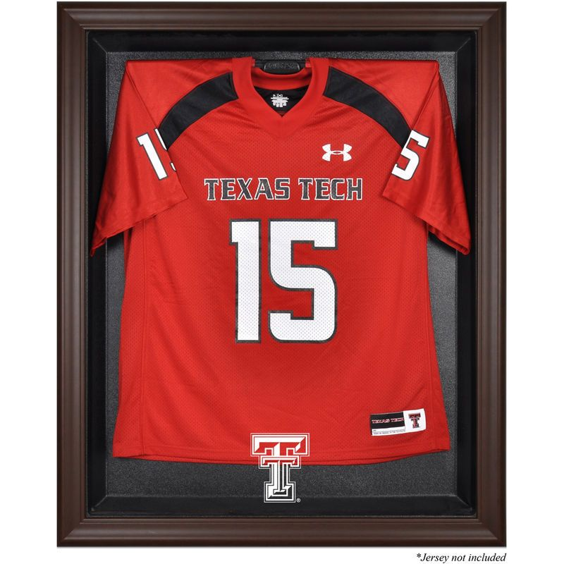 20a7ad691 Texas Tech Red Raiders Fanatics Authentic Brown Framed Logo Jersey Display  Case