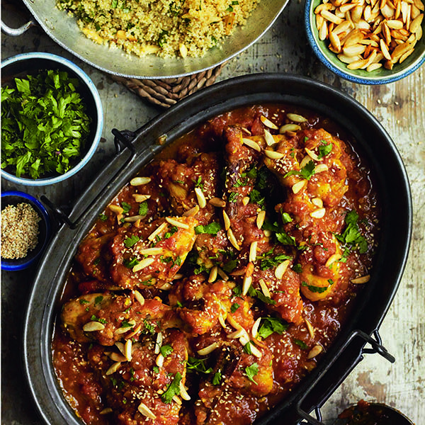 North african chicken with honey and saffron recipe africans north african chicken with honey and saffron recipe africans recipes and foods forumfinder Gallery
