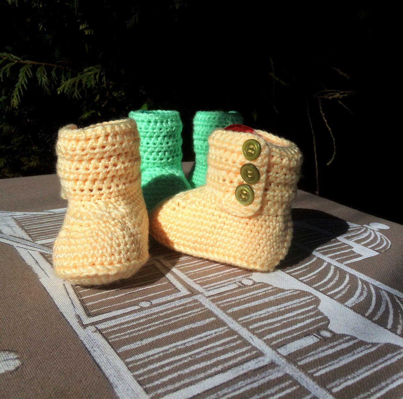 Patucos botitas * Patrón Gratis   Crochet: Preemie/Newborn ...