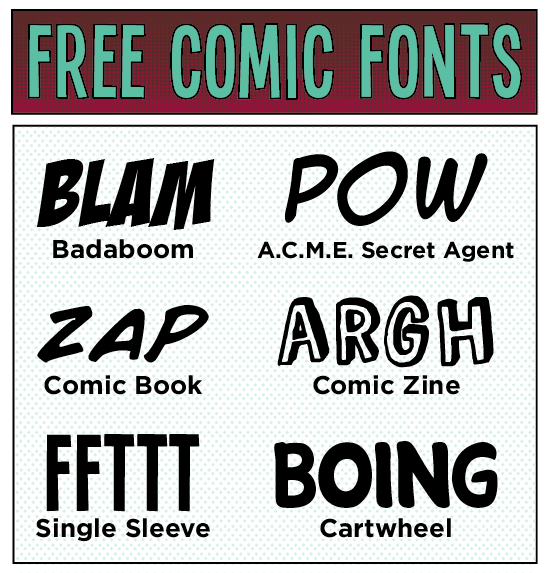 free comic fonts 6 free fonts w links