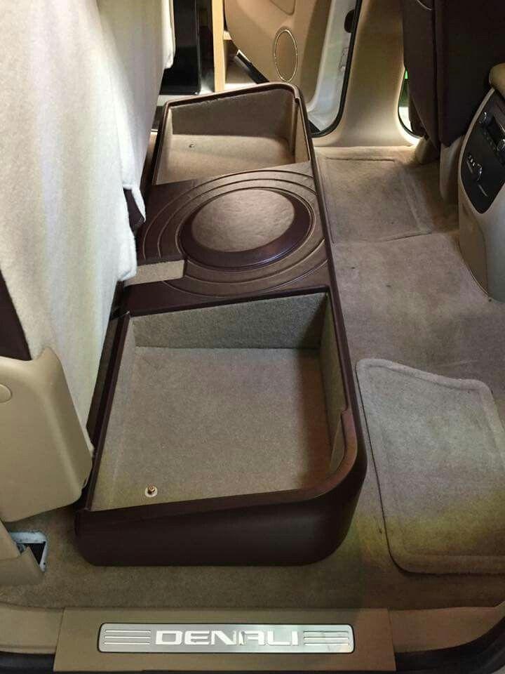 Storage plus sub enclosure | Custom car audio, Car audio ...