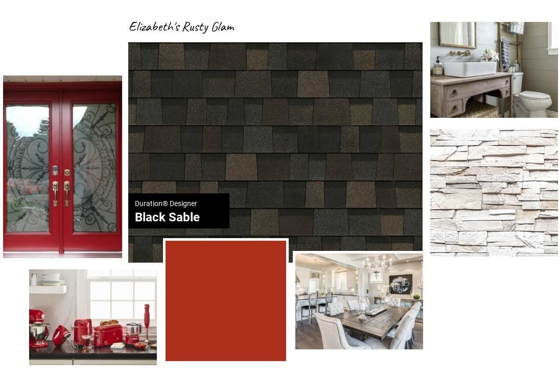 Elizabeth S Rusty Glam Submitted By Elizabeth In Topeka Kansas Roofing Roof Shingle Colors Shingle Colors