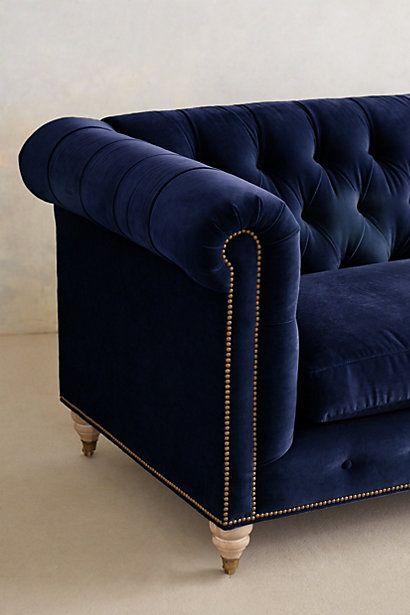 blue velvet chesterfield sofa bernhardt ellis dark lyre anthrofave