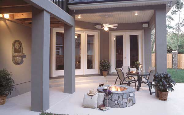 Image from for Walkout basement patio ideas