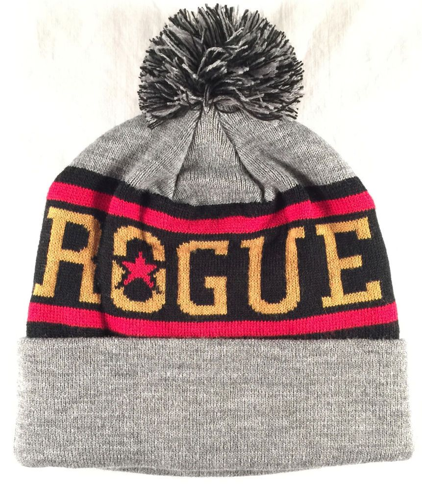 94085dac6b9 Rogue Ales Brewing Company Beanie Cap Stocking Hat Winter Brew Pom Craft  Beer  RogueAles  BeanieCap