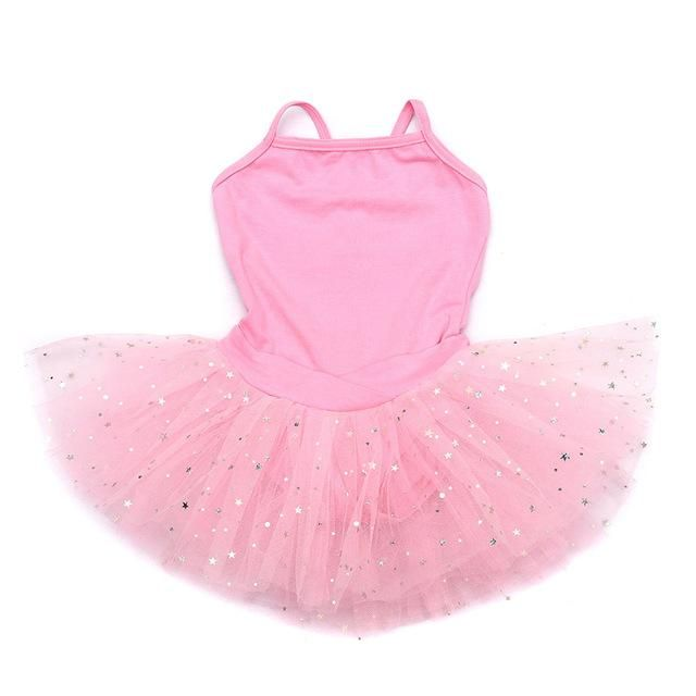 03ea205d0265 Girls Ballerina Sequined Dress Pink Tutu Dress Fairy Prom Party Costum –  Dance Supply Source