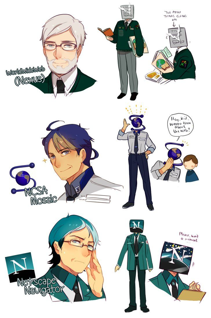 Web Browsers in Anime Style - WorldWideWeb ( Nexus ), NCSA